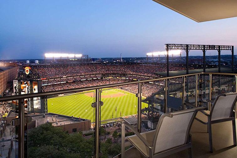 Baseball Field View at the Hilton Baltimore Inner Harbor