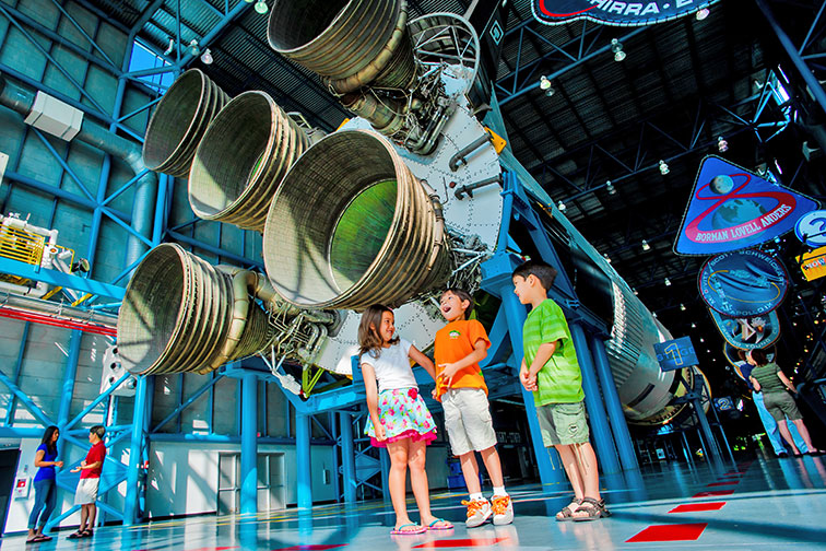 Kids at NASA Kennedy Space Center Visitor Complex