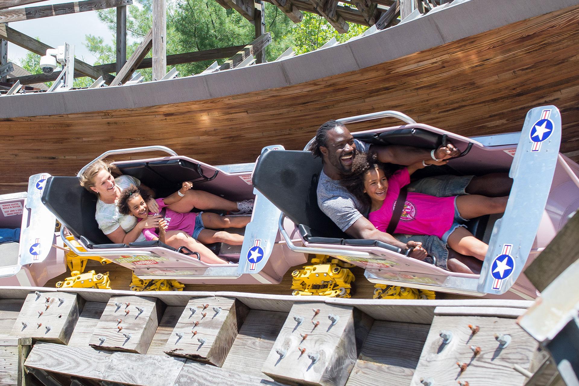 Family on Ride at Knoebels; Courtesy of Knoebels Amusement Resort
