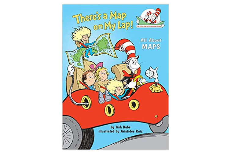 There's a Map On my Lap Kids Book; Courtesy of Amazon