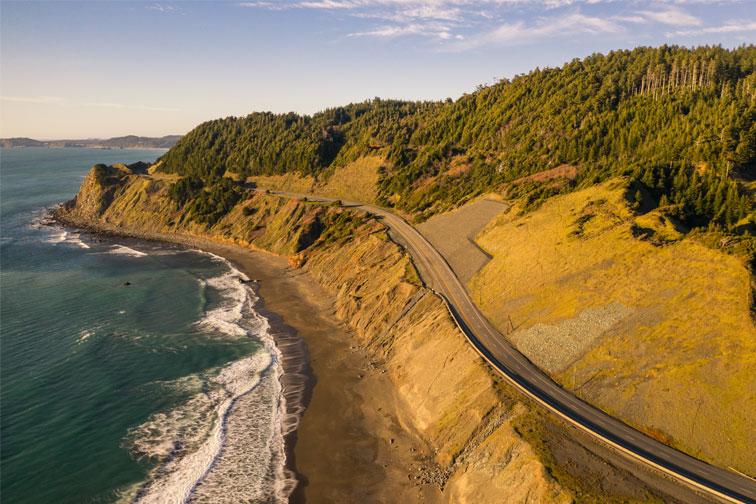 Pacific Coast Highway in Oregon; Courtesy of Manuela Durson/Shutterstock.com