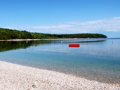 Schoolhouse Beach in Wisconsin; Courtesy of Door County Visitors Bureau
