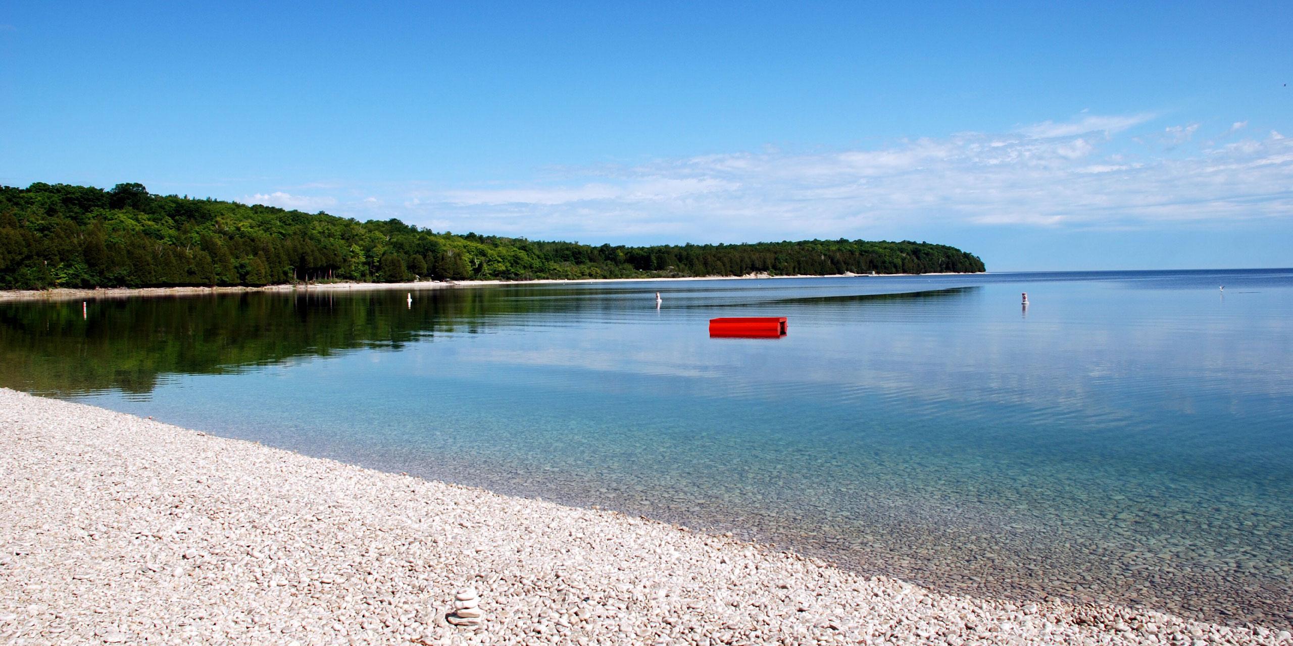 Schoolhouse Beach in Wisconsin; Courtesy of Door County Visitors Bureau