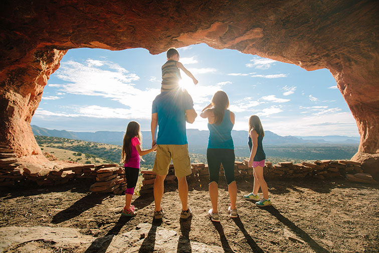 Family in Sedona, Arizona