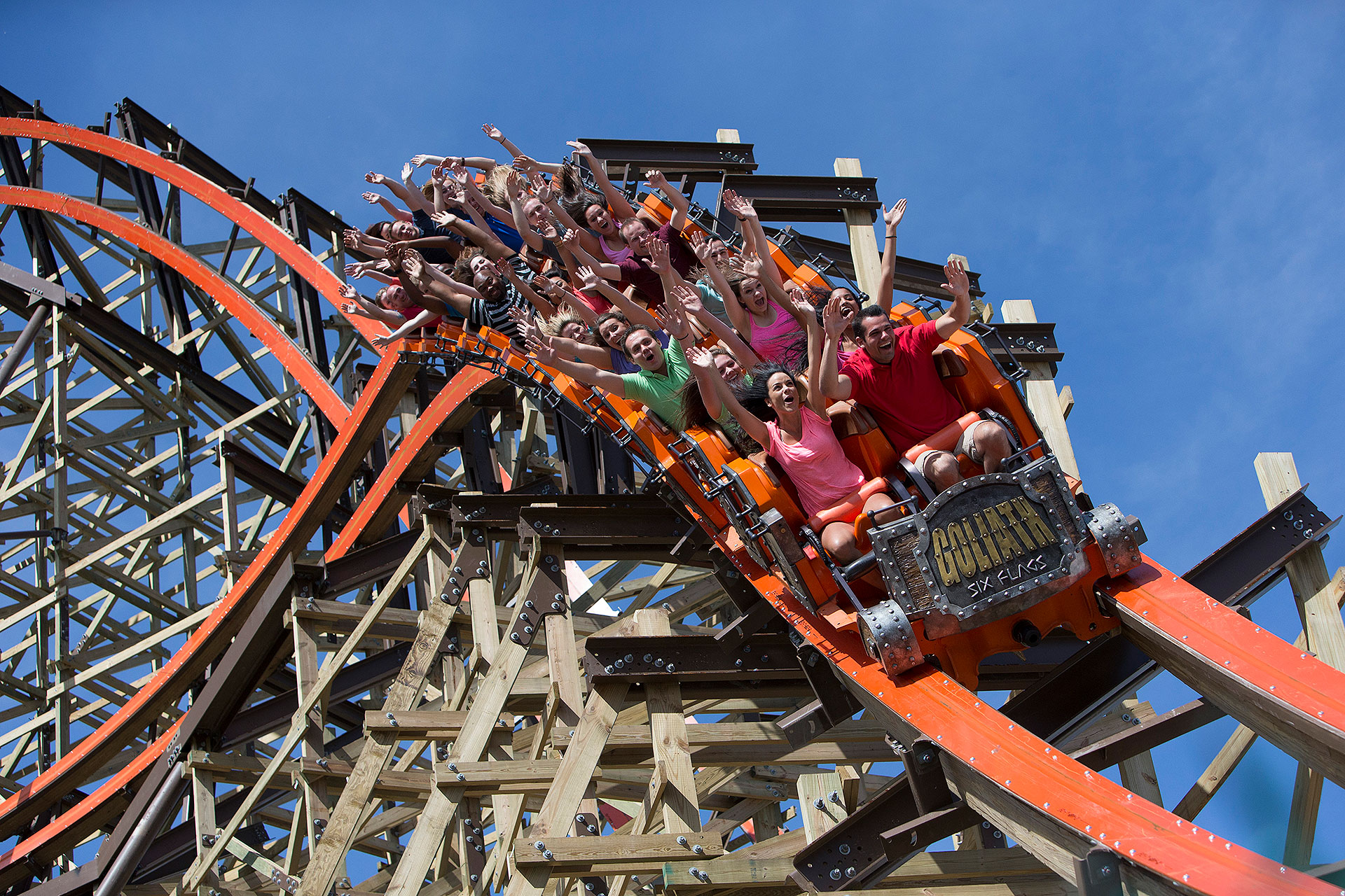 Goliath Roller Coaster; Courtesy of Six Flags Great America