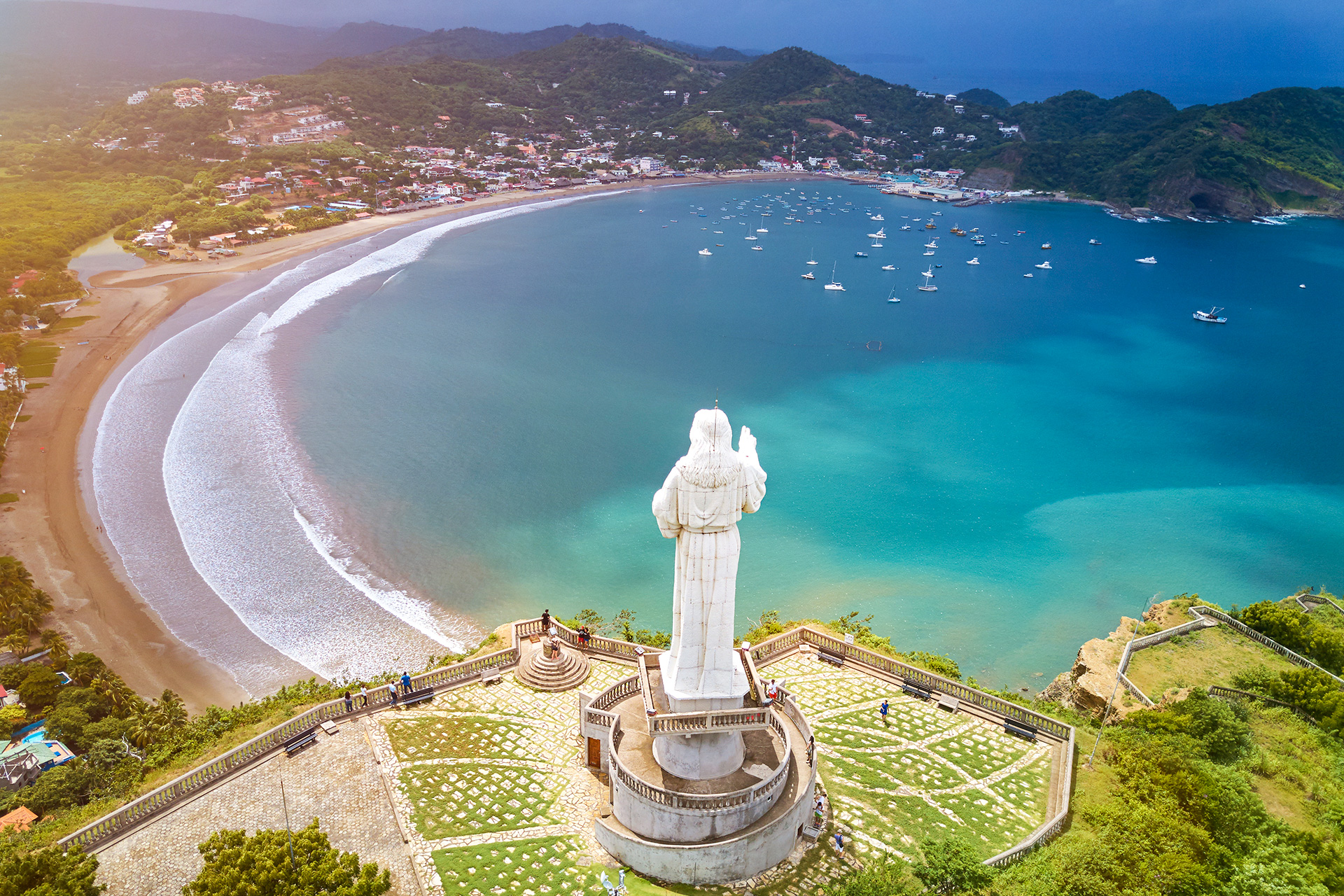 Tourist tour for jesus christ statue in Nicaragua.; Courtesy of PixieMe/Shutterstock