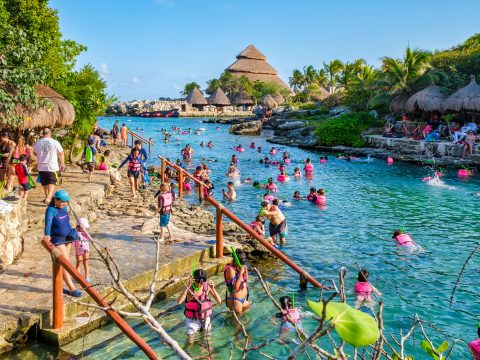 Snorkeling at XCaret park on the Mayan Riviera; Courtesy Kamira/Shutterstock