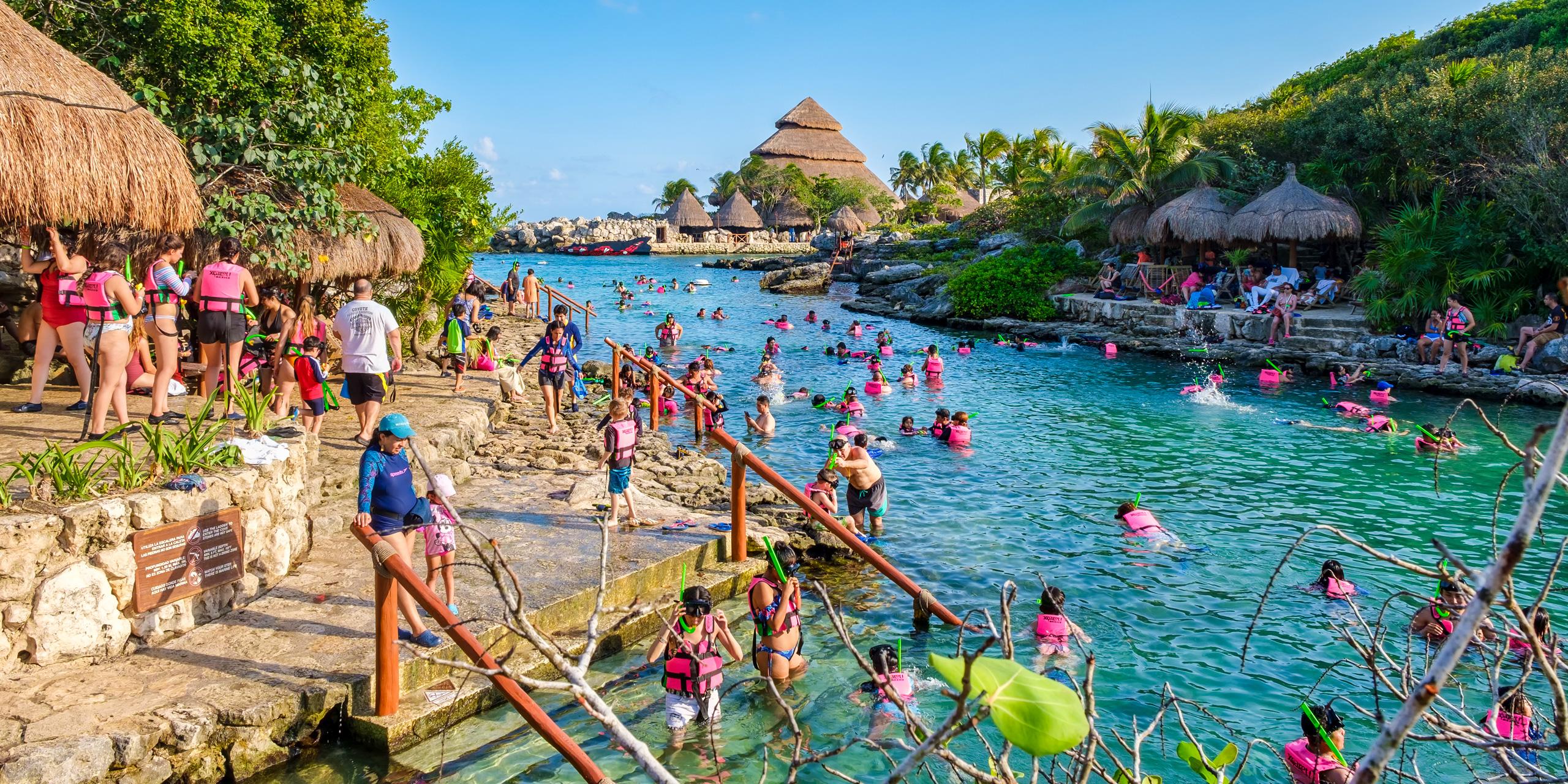 Snorkeling at XCaret park on the Mayan Riviera; Courtesy Kamira/Shutterstock