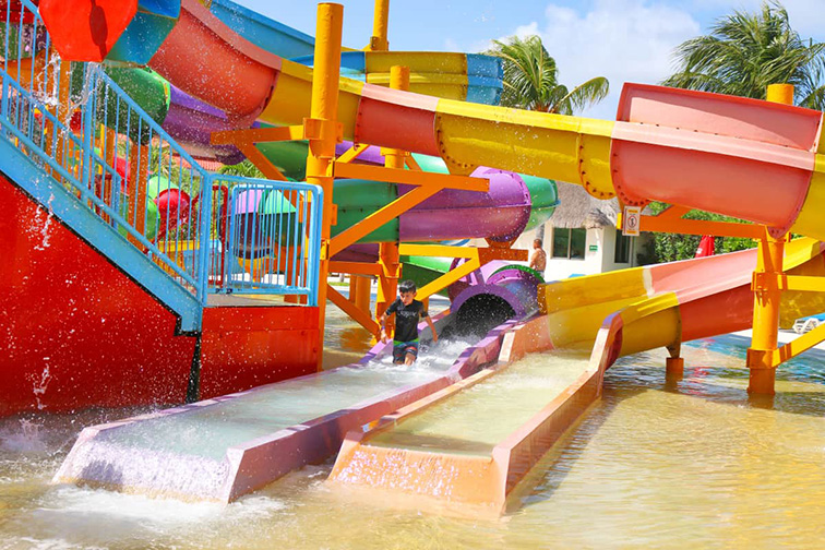 All Ritmo Cancun Resort & Waterpark waterslide; Courtesy of All Ritmo Cancun Resort & Waterpark