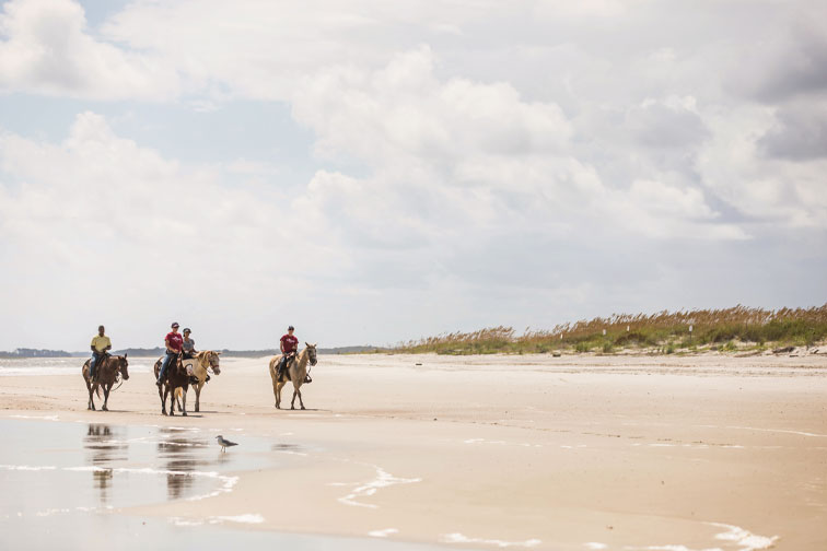 Horseback riding in Amelia Island; Courtesy of Amelia Island Tourist Development Council/Deremer Studios LLC Photography