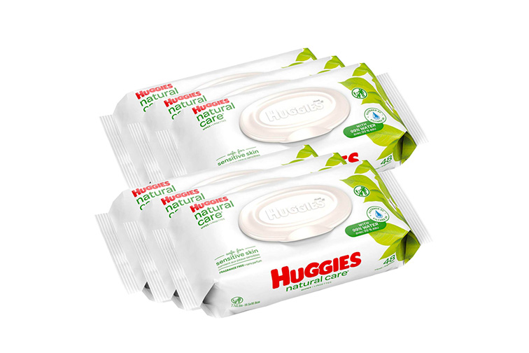 HUGGIES Natural Care Unscented Baby Wipes; Courtesy of Amazon