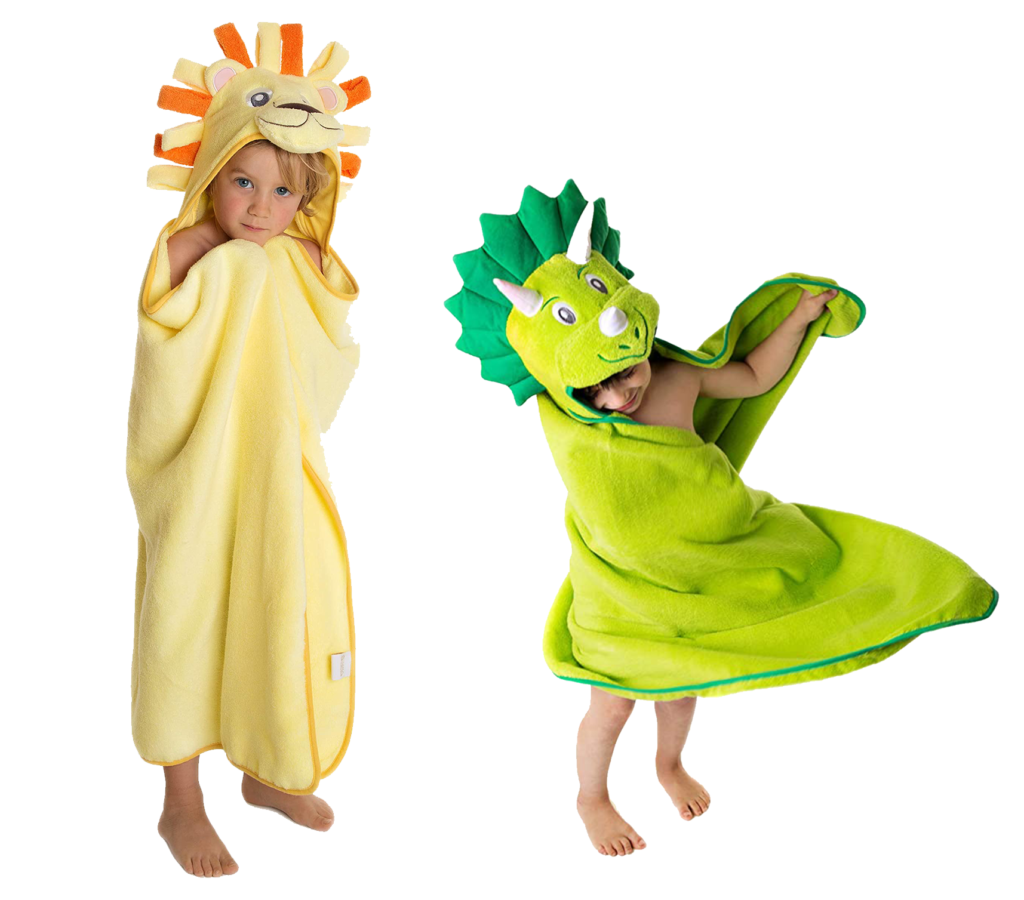Little Tinkers World Hooded Towels for Kids