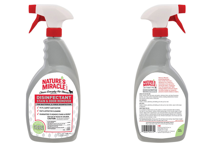 Nature's Miracle Brand Disinfectant Stain/Odor Remover; Courtesy of Amazon