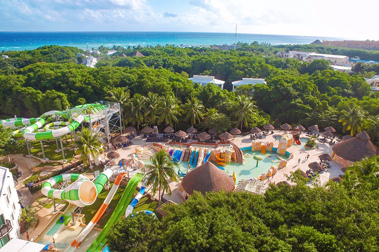Aerial View of Sandos Caracol Eco Resort