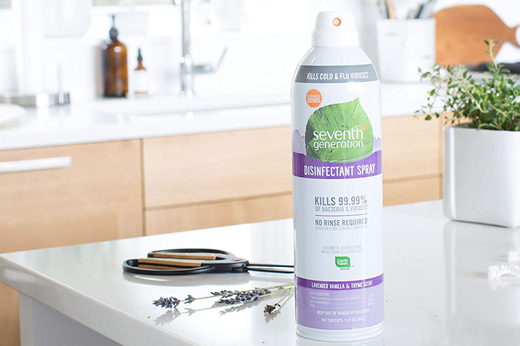 Seventh Generation Disinfectant Spray; Courtesy of Amazon