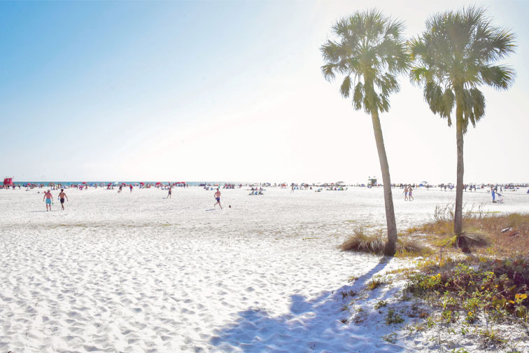 Siesta Key Beach in Sarasota, Florida; Courtesy of VisitSarasota.com