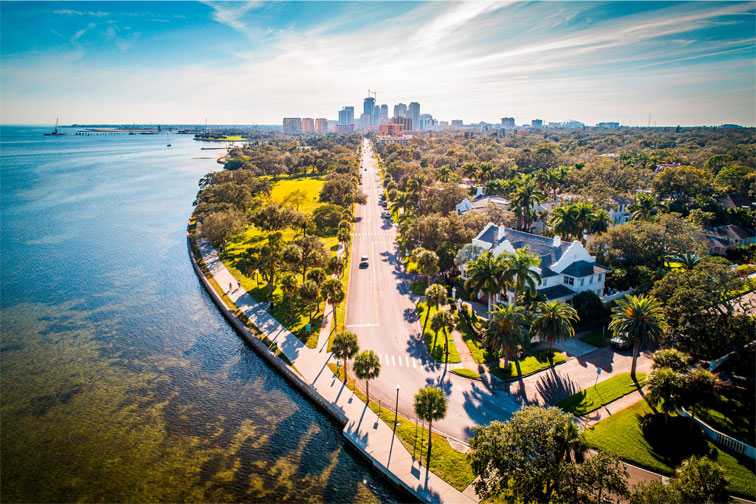 St Petersburg, Florida; Courtesy of Noah Densmore/Shutterstock.com