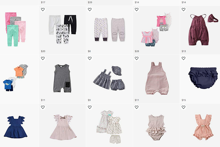 Baby Capsule Wardrobe for Travel; Courtesy of Amazon