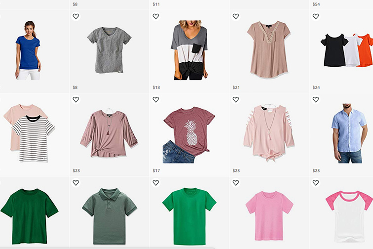 Tween Capsule Wardrobe for Travel; Courtesy of Amazon