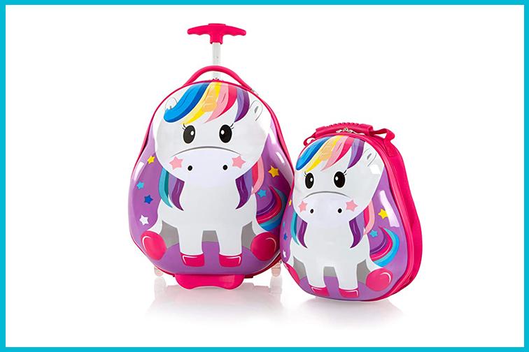 Unicorn luggage for kids