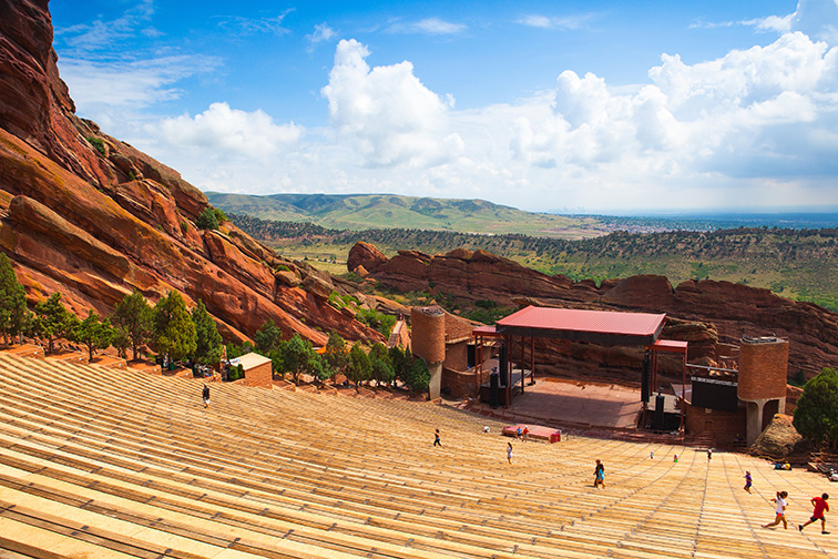 Denver red rocks amphitheater; Courtesy of Radomir Rezny/Shutterstock