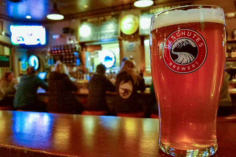 Fresh beer at the renowned Deschutes Brewery; Courtesy of Tyler W. Stipp/Shutterstock
