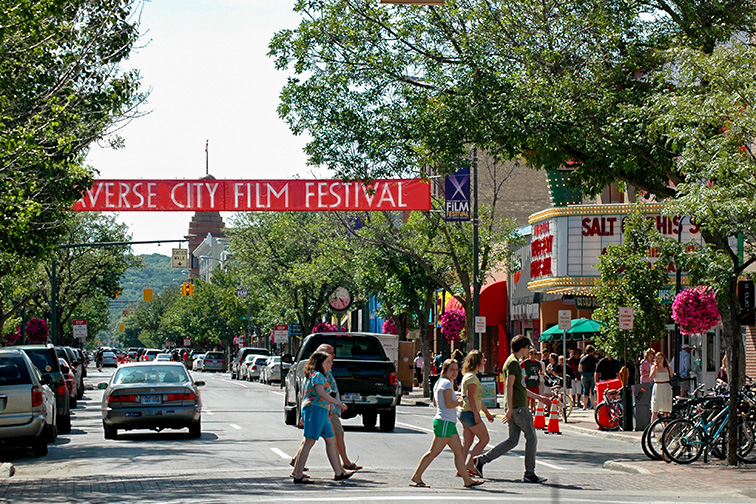 downtown Traverse City; Courtesy of Traverse City Tourism