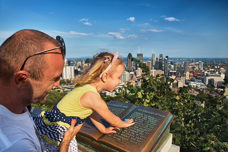 father daughter on Mount Royal in Montreal; Courtesy of Bondarenco Vladimir/Shutterstock