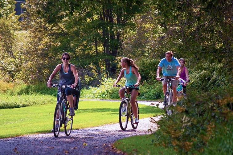 family stowe vermont outdoor biking; Courtesy of Mark Vandenberg/Stowe Area Association