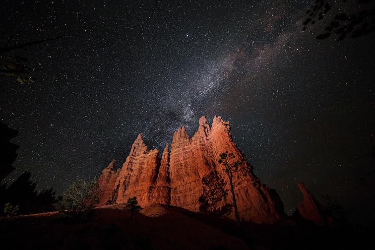 starry sky over bryce national park in utah; Courtesy of ericharris/Shutterstock