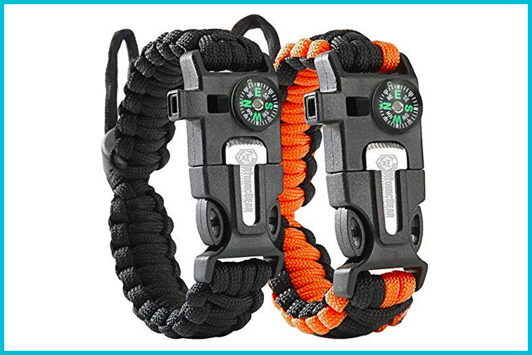 ATOMIC BEAR Paracord Bracelet; Courtesy of Amazon