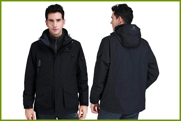 CAMEL CROWN Men's Waterproof 3-in-1 Ski Jacket; Courtesy of Amazon
