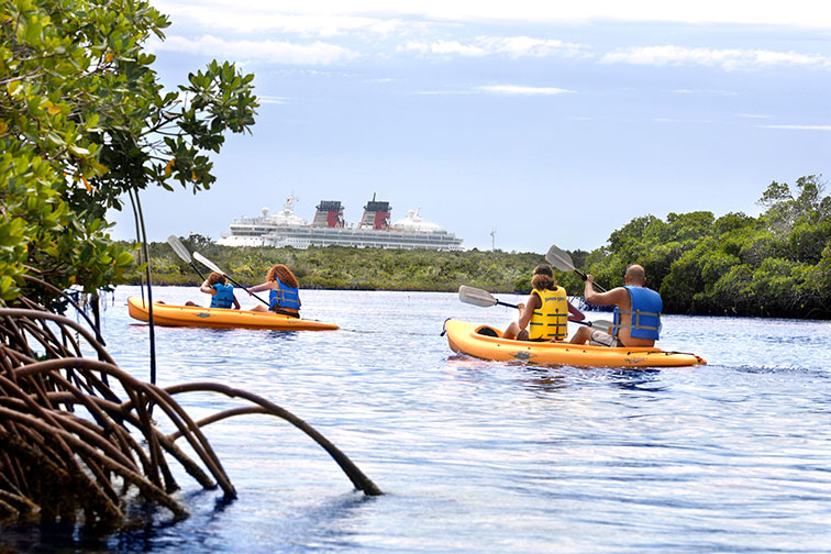 Family Kayaking at Disney's Castaway Cay