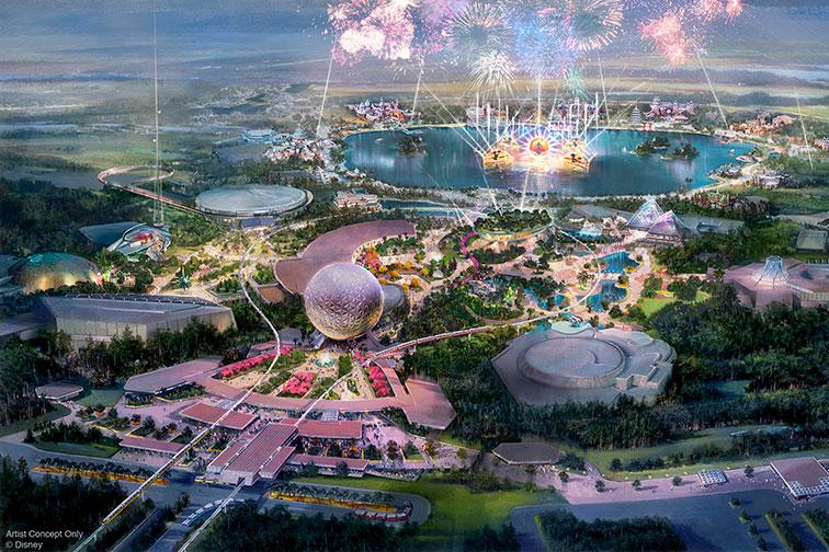 Rendering of Epcot Transformation at Disney World
