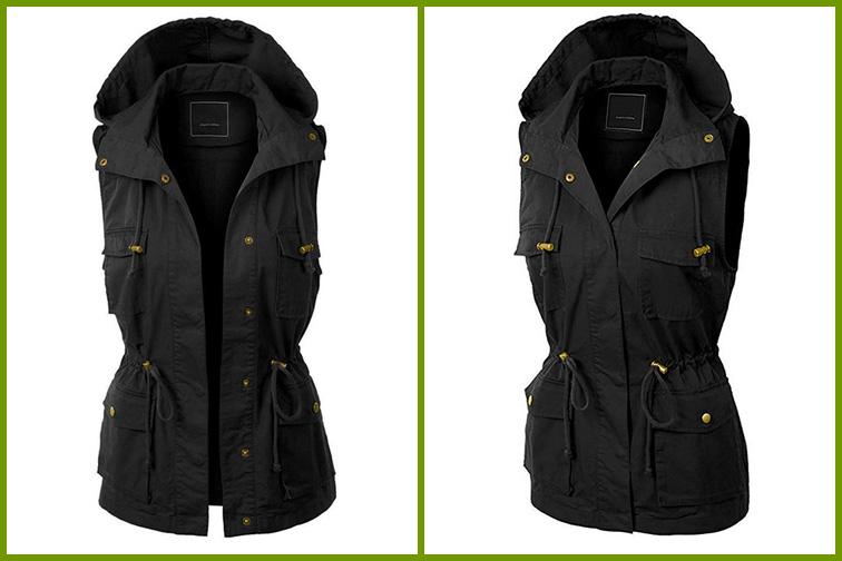 Jenkoon Women's Anorak Utility Jacket Vest; Courtesy of Amazon