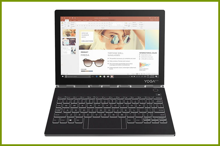 "Lenovo - Yoga Book C930 2-in-1 10.8"" Touch-Screen Laptop; Courtesy of Best Buy"