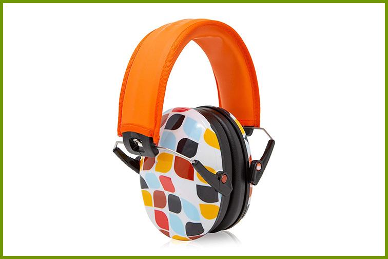 Muted Designer Hearing Protection Infant Earmuffs; Courtesy of Amazon