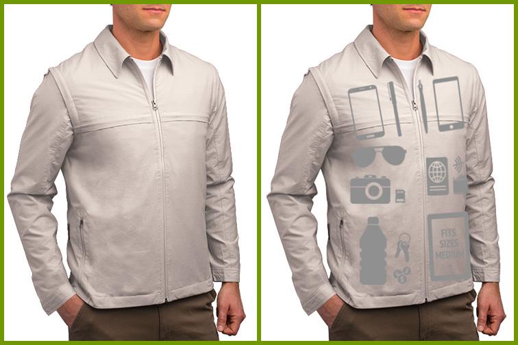 SCOTTeVEST Men's Convertible Tactical Travel Jacket & Vest; Courtesy of SCOTTeVEST
