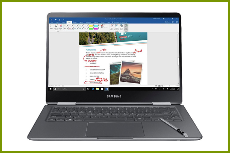 "Samsung - Notebook 9 Pro - 15"" Touch-Screen Laptop; Courtesy of Best Buy"