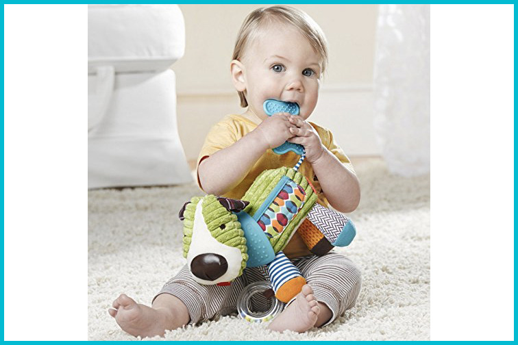 SkipHop Bandana Buddies Baby Activity and Teething Toy; Courtesy of Amazon
