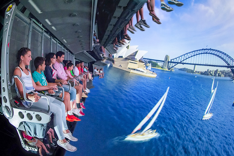 """The Soarin' Around the World attraction takes guests on an exhilarating """"flight"""" above spectacular global landscapes and man-made wonders; Courtesy of Walt Disney World"""
