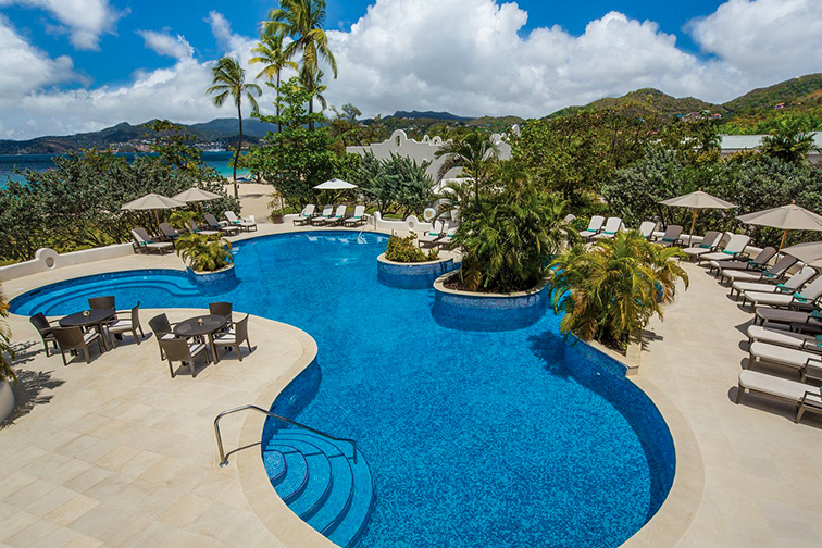 Spice Island Beach Resort Pool; Courtesy of Spice Island Beach Resort