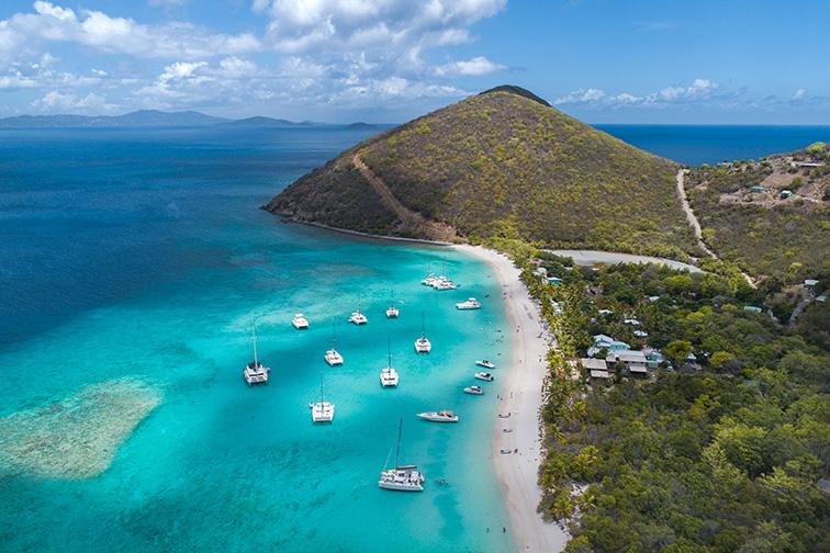 British Virgin Islands aerial Tortola ;Courtesy of Eric Rubens/Shutterstock
