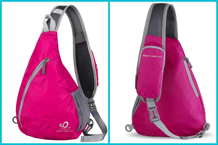 Waterfly Sling Chest Backpacks; Courtesy of Amazon