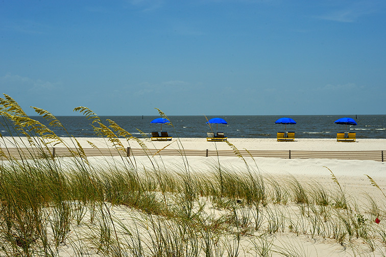 Biloxi beach; Courtesy of Coastal Mississippi