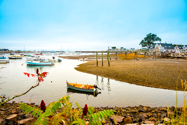 Rye Harbour at Hampton Beach, small fishing village in New Hampshire; Courtesy of Brian S/Shutterstock