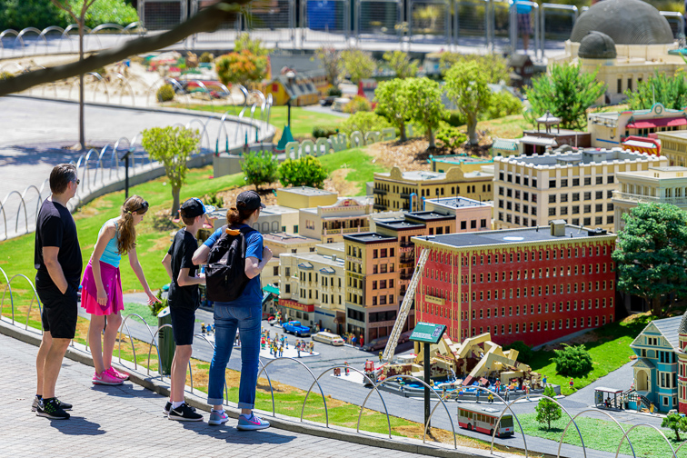 Miniland is a theme park in Legoland California located in Carlsbad based on the Lego toy brand; Courtesy of Hayk_Shalunts/Shutterstock