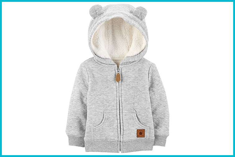 Simple Joy by Carter's Boys Hooded Sweater Jacket; Courtesy of Amazon