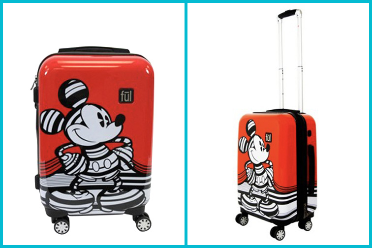Disney Mickey Mouse Hardside Luggage; Courtesy of Target