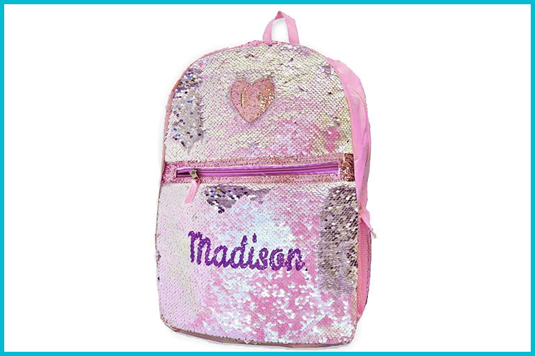 Justice Personalized Sequin Backpack; Courtesy of Amazon